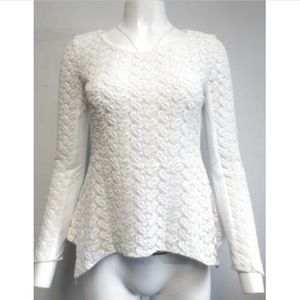 YIGAL AZROUL white crochet lace blouse size 6